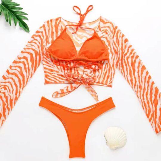 3-piece-driedelig-bikiniset-broekje-bikinitop-blouse-oranje-movastyling