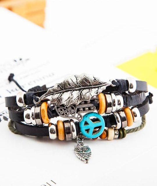 armband-lucky-bracelet-peace-bedelarmband-zilverkleur-movastyling