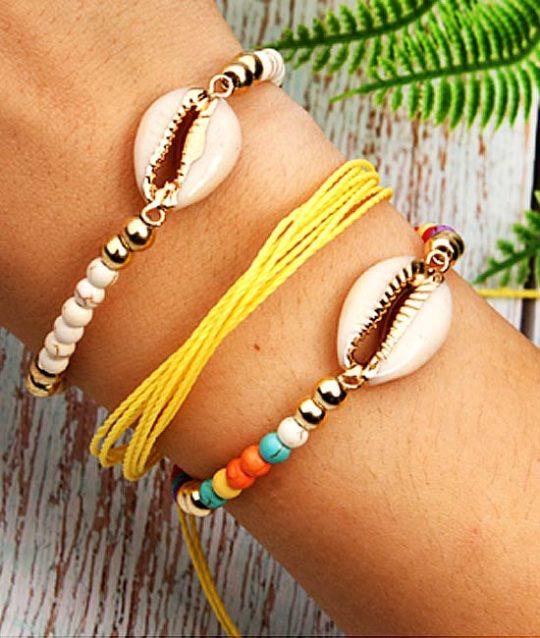 armband-pols-jasseron-sluiting-goudkleur-cowrie-bohemian-zomer-movastyling
