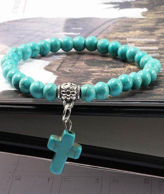 armband-turquoise-naturelstone-kruisje-bedelarmband-bohemian-movastyling