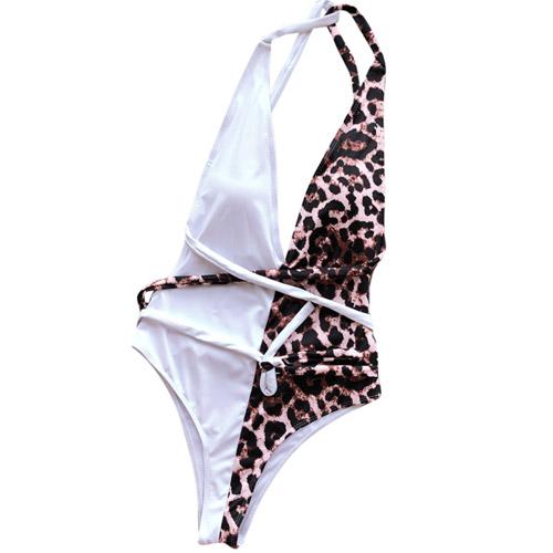 Tijgerprint Badpak.Twisted Leo Swim Mova Styling Duo Color Swimsuit Animalprint