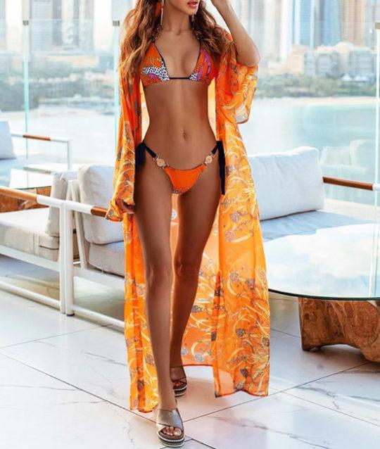 bikini-oranje-barok-barokprint-lancaster-halterbikini-versace-orange-gouden-accenten-dubai-chiffon-movastyling