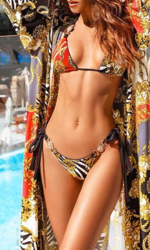 bikini-zwart-barok-barokprint-halterbikini-versace-orange-gouden-accenten-gold-bikinimodel-dubai-chiffon-movastyling