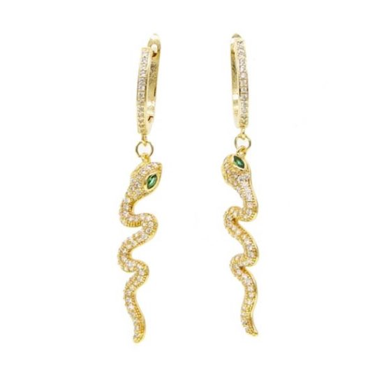 creolen-slang-lang-zirconia-goudkleur-groen-oorringen-movastyling