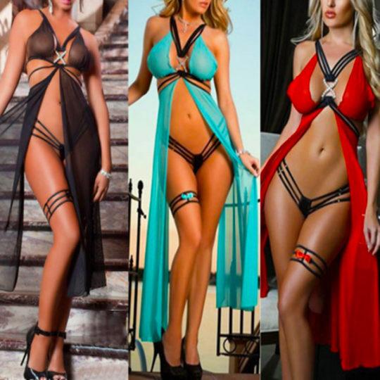 drie-kleuren-zwart-rood-turquiose-split-beach-sexy-dress-movastyling