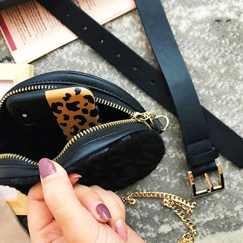 heuptas-beltbag-schoudertas-zwart-goud-luipaardprint-dierenprint-leeuwenkop-festival-luxury-fashion-iphone-inside-view-movastyling