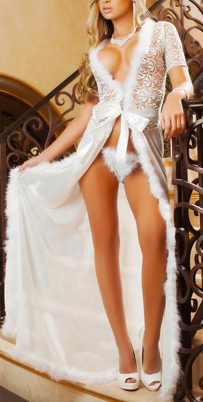 nachtrobe-kortemouw-wit-veertjes-long-nightgown-setje-thong-movastyling