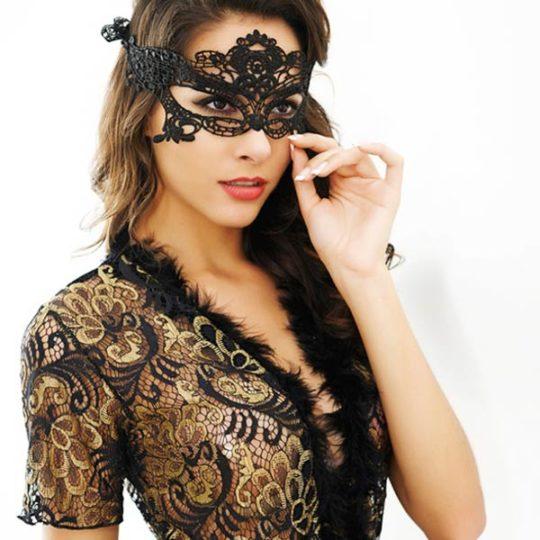 nachtrobe-kortemouw-zwart-veertjes-long-nightgown-valentinenights-movastyling