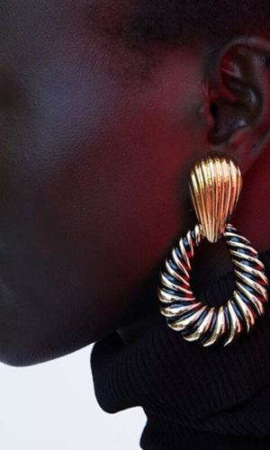 oorbellen-dangle-earring-black-gold-movastyling