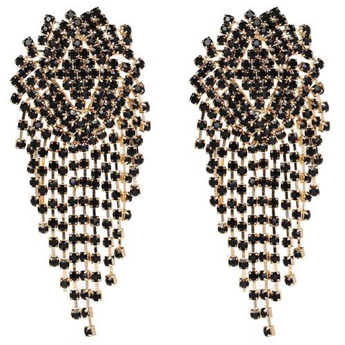 oorbellen-earrings-dazzling-strass-zirconia-black-gold-zwart-goud-movastyling
