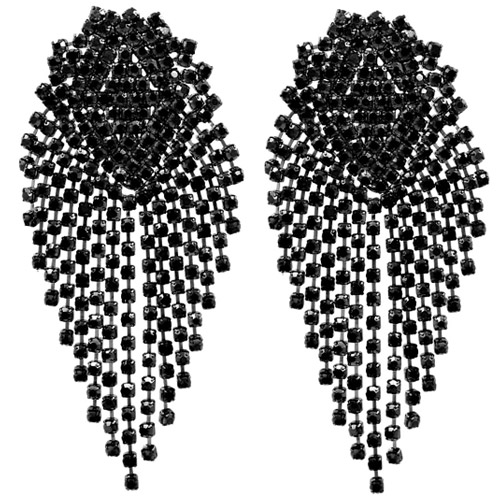 oorbellen-earrings-dazzling-strass-zirconia-black-silver-zwart-zilver-movastyling