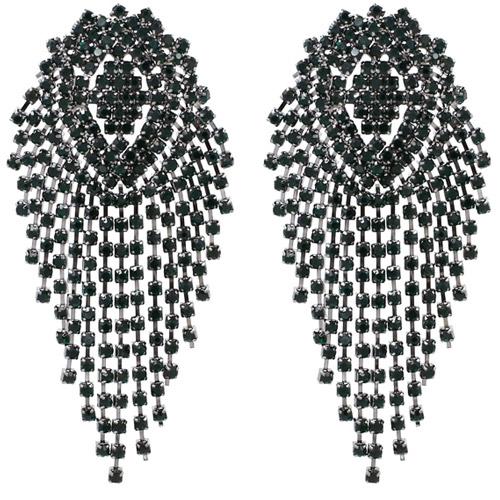 oorbellen-earrings-dazzling-strass-zirconia-dark-green-silver-donker-groen-zilver-movastyling
