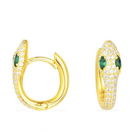 oorringen-hoops-creolen-zirconia-goudkleur-groen-movastyling