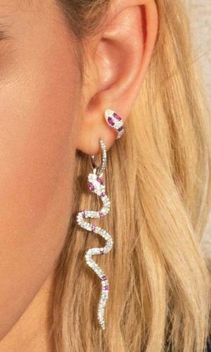 slang-creolen-earparty-zilver-roze-movastyling